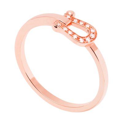 Bague Force 10 Petit Modèle en or rose et diamants blancs