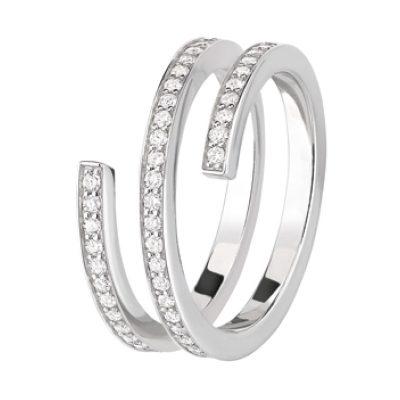 Bague SPIRALE dinh van et diamants (Moyen Modèle)