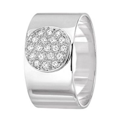 Bague ANTHEA dinh van pavée diamants (9,5mm)