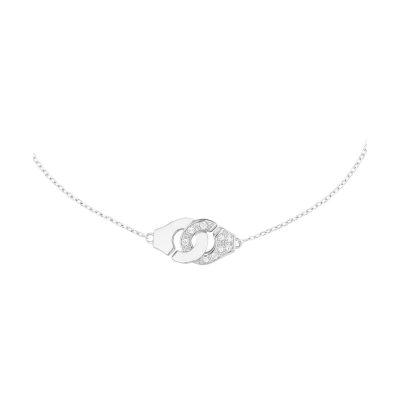 Bracelet MENOTTES chaîne dinh van R8, 1/2 diamants