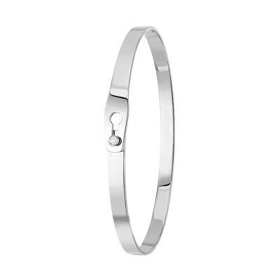 Bracelet ruban SERRURE dinh van et pavage diamants