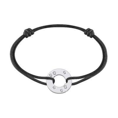 Bracelet CIBLE dinh van avec 6 diamants (16mm)