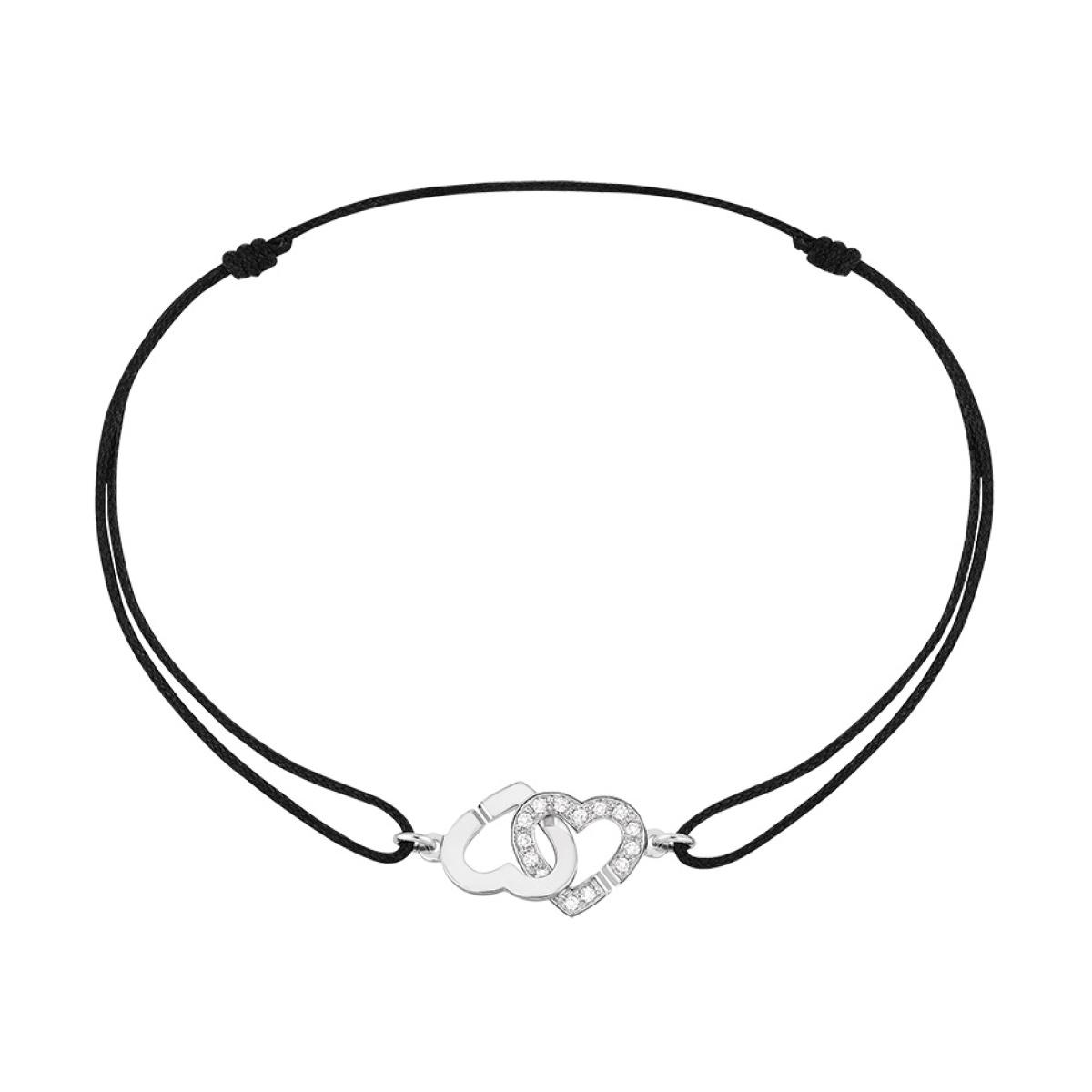 7454c103081 Bracelet DOUBLE CŒURS dinh van R9 et 1 2 diamants - Borromée Joaillier