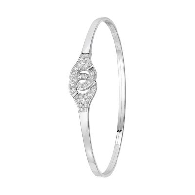 Bracelet MENOTTES flex dinh van R10, 1/2 diamants