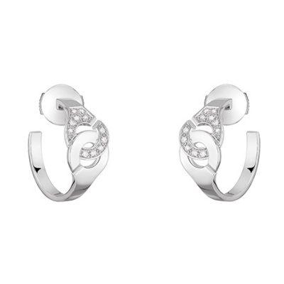 Créoles MENOTTES dinh van R7 et 1/2 diamants