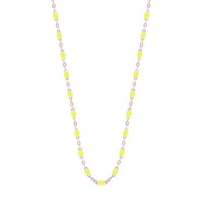 Collier gigiCLOZEAU perles de résine jaune fluo