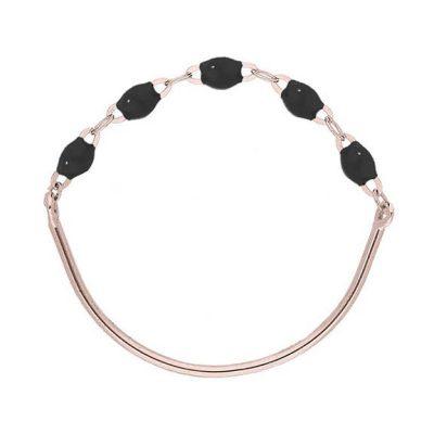 Bague gigiCLOZEAU perles de résine noire