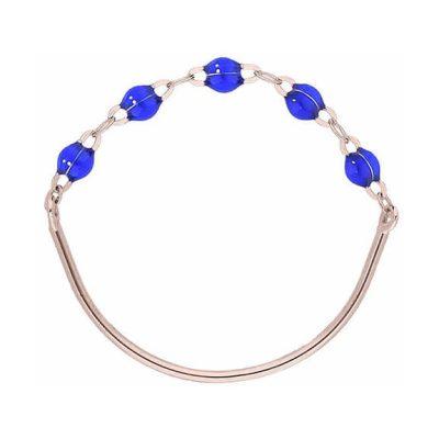 Bague gigiCLOZEAU perles de résine bleu de prusse