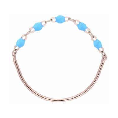 Bague gigiCLOZEAU perles de résine turquoise