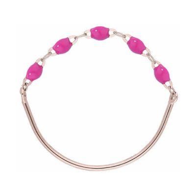 Bague gigiCLOZEAU perles de résine rose