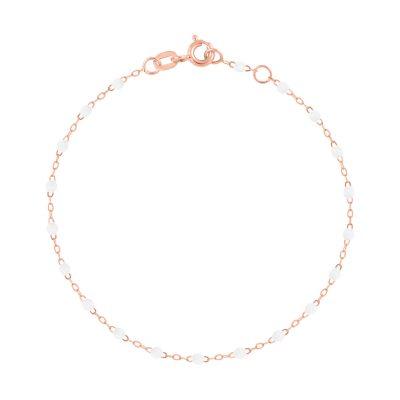 Bracelet gigiCLOZEAU perles de résine blanche