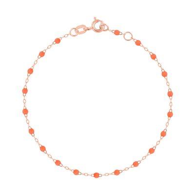 Bracelet gigiCLOZEAU perles de résine orange