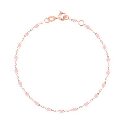 Bracelet gigiCLOZEAU perles de résine rose bébé