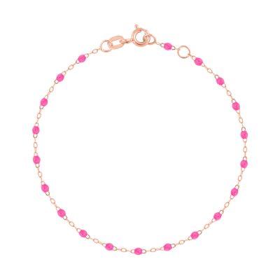 Bracelet gigiCLOZEAU perles de résine rose fluo