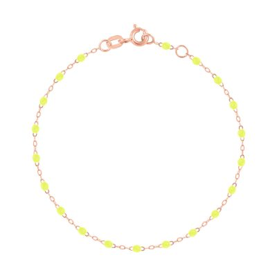 Bracelet gigiCLOZEAU perles de résine jaune fluo