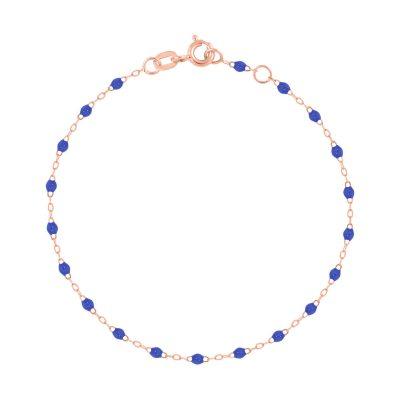 Bracelet gigiCLOZEAU perles de résine bleu de prusse