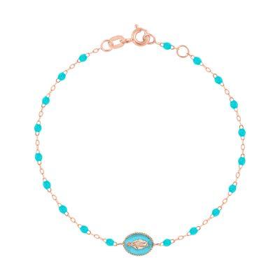 """Bracelet gigiCLOZEAU """"madone"""" et perles de résine turquoise"""