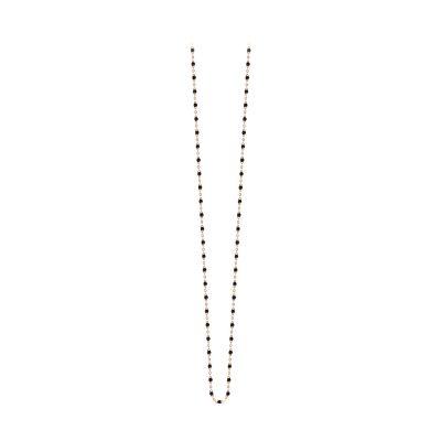 Sautoir gigiCLOZEAU perles de résine noire