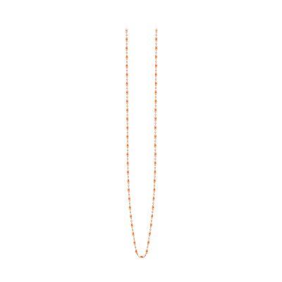Sautoir gigiCLOZEAU perles de résine orange fluo