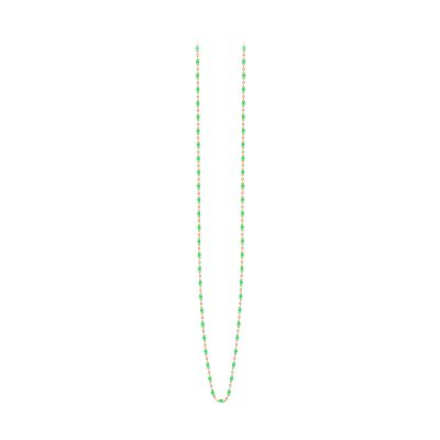 Sautoir gigiCLOZEAU perles de résine vert fluo