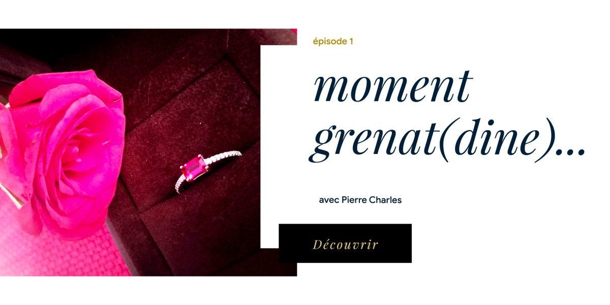 E1 : MOMENT GRENAT (DINE)… avec Pierre Charles