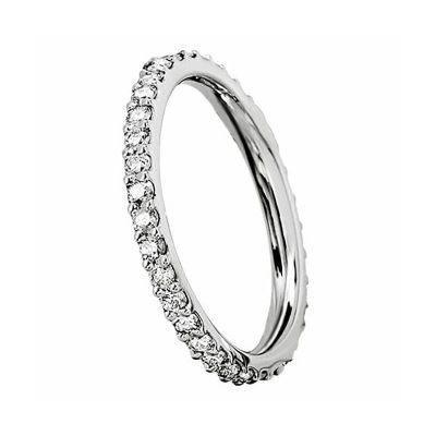 Alliance diamants tour complet sur or blanc