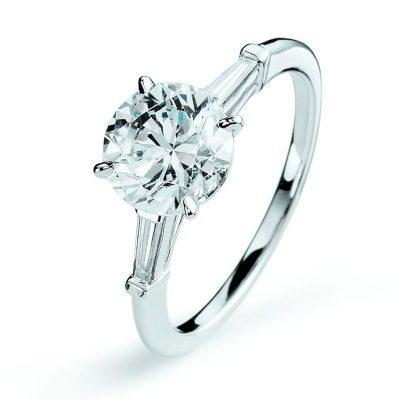 Bague de fiançailles, solitaire diamants
