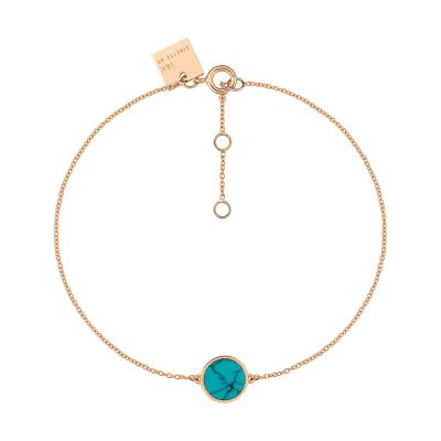 mini ever turquoise disc bracelet