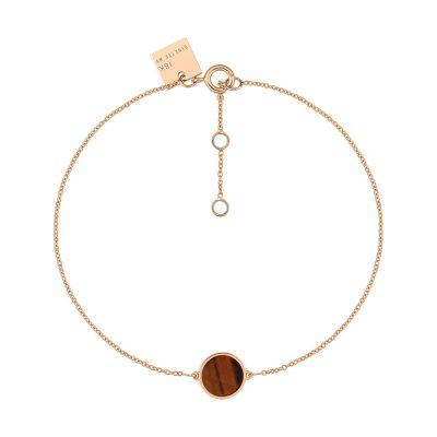 mini ever tiger eye disc bracelet