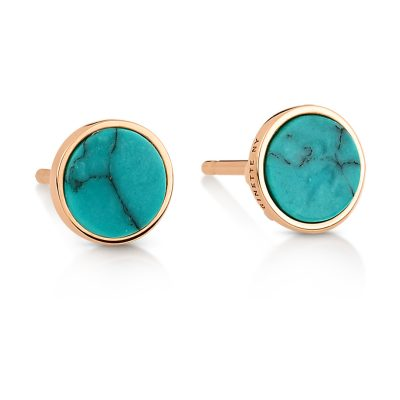 ever turquoise disc studs