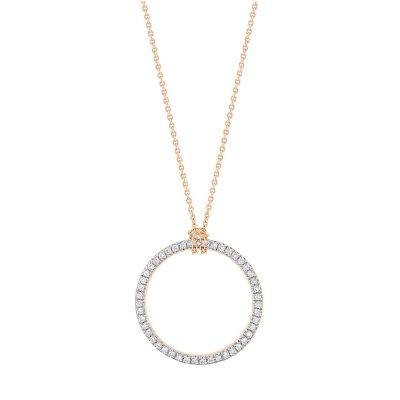 mini diamond circle on chain