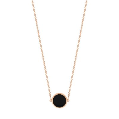 mini ever onyx disc necklace