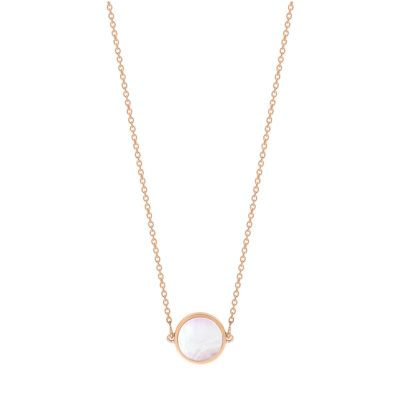 mini ever pink MOP disc necklace