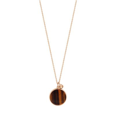 ever tiger eye disc on chain