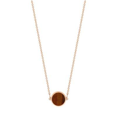 mini ever tiger eye disc necklace