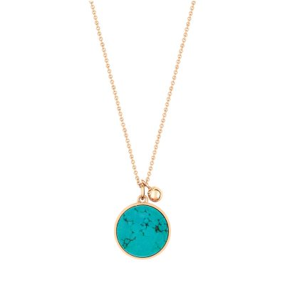 ever turquoise round on chain