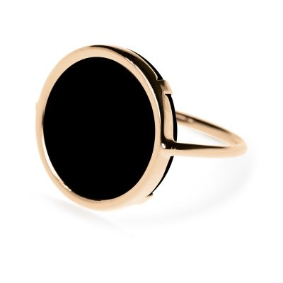 Black Onyx Disc Ring
