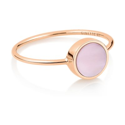 mini ever pink MOP disc ring