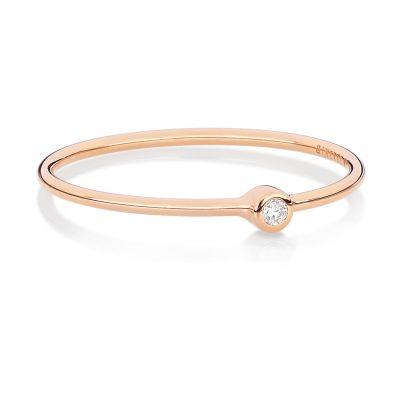 Mini Lonely Diamond Ring / mini tube mini solitaire ring