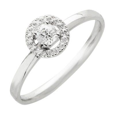 Solitaire Diamants entourage